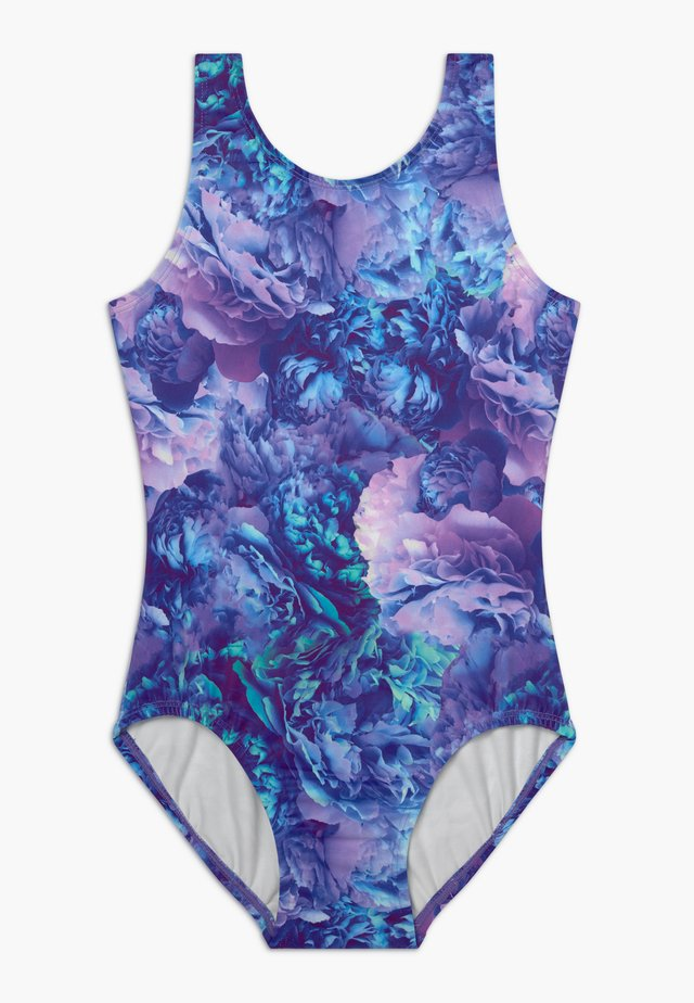 GIRLS DYMANI GYMNASTICS PRINTED LEOTARD - Danspakje - purple