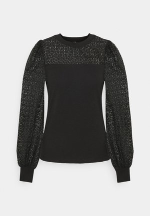 ONLIVY PUFF MIX  - Long sleeved top - black