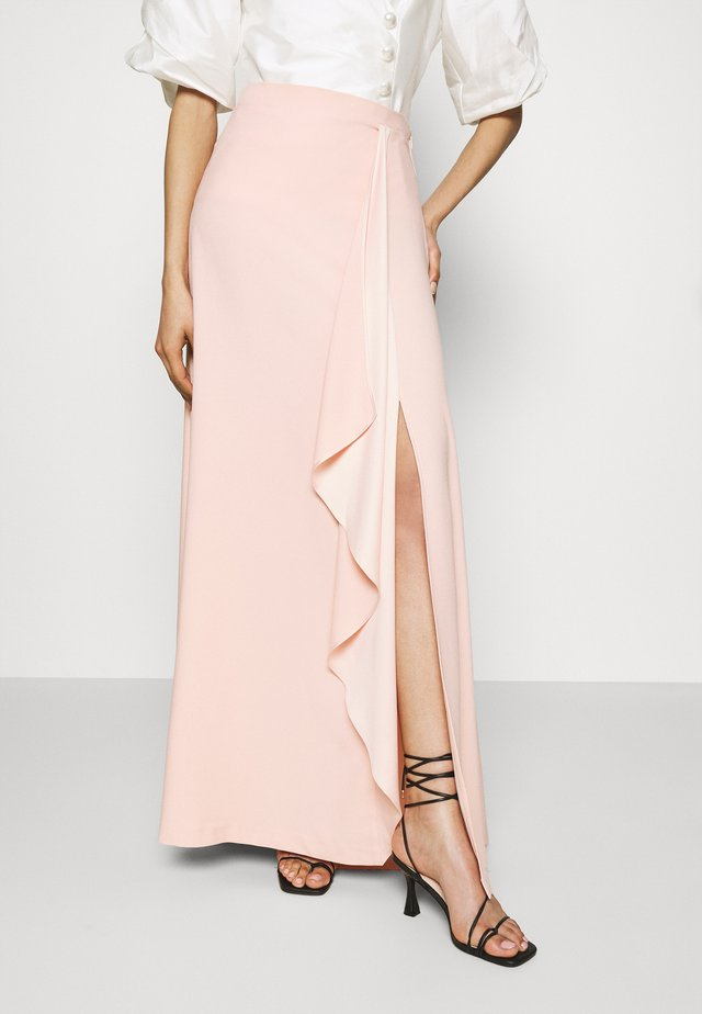 CASCADE LONG SKIRT - Maksihame - mellow blush