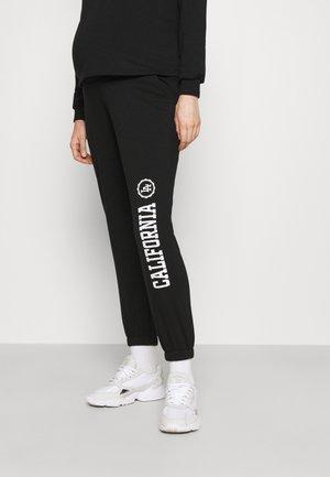 OLMCOMFY LIFE PRINT PANT - Spodnie treningowe - black/white