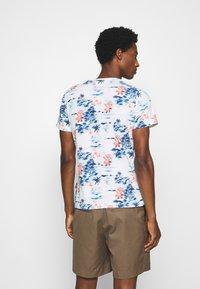 Schott - Print T-shirt - blue hawai - 2