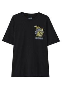 PULL&BEAR - STWD-SLOGAN - Print T-shirt - black - 0