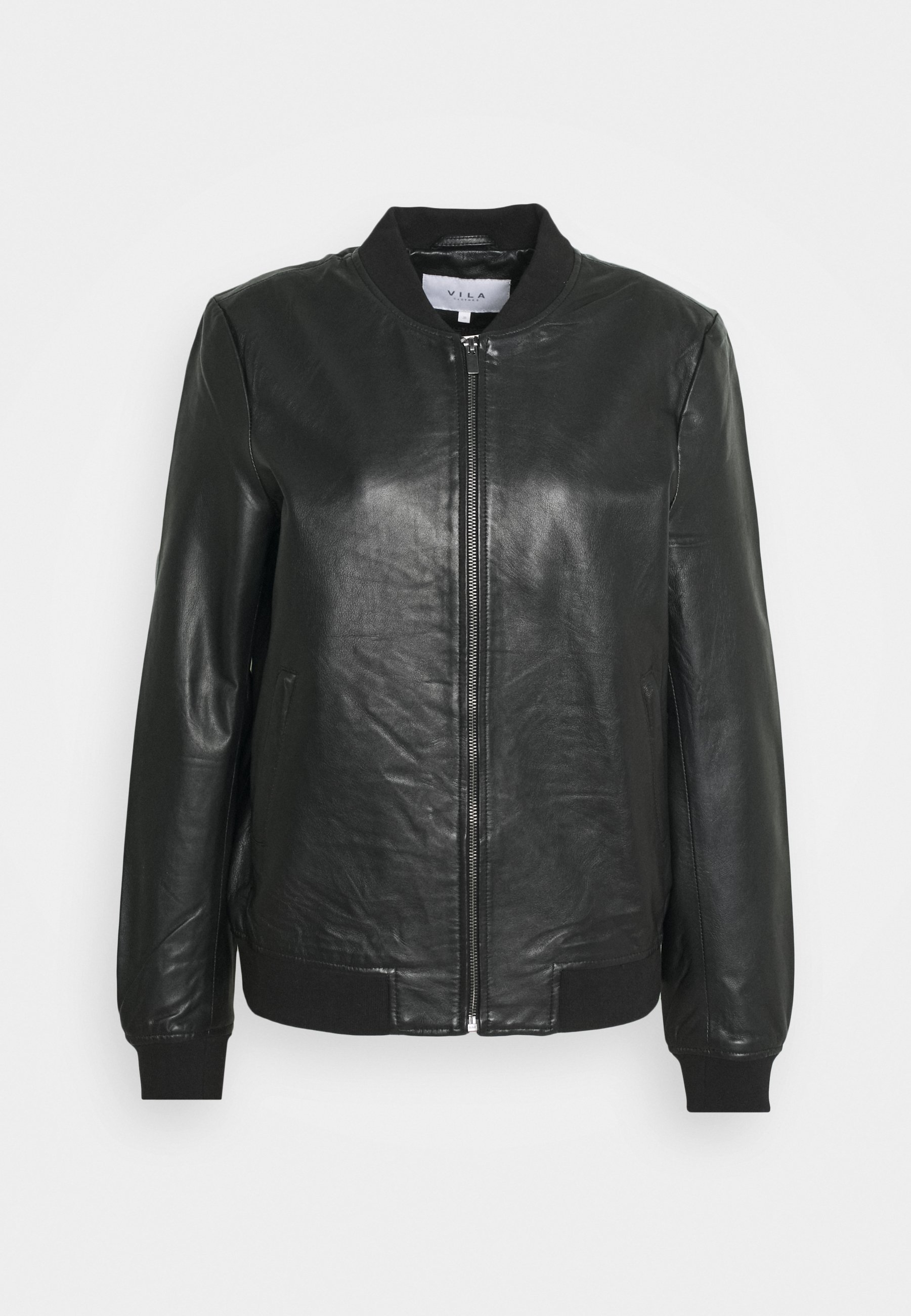 VISHEEPO LEATHER JACKET Leren jas black