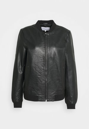 VISHEEPO LEATHER JACKET - Skinnjakke - black