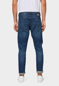 TOM TAILOR DENIM - Slim fit jeans - used dark stone blue denim - 2