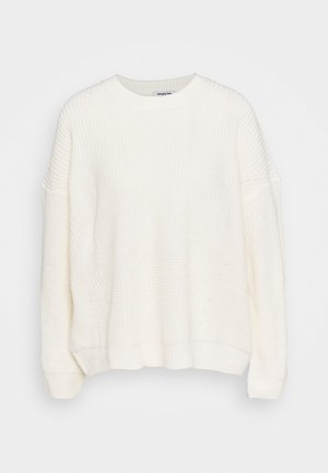 ENGINEERED DROP SHOULDER - Jumper - ivory