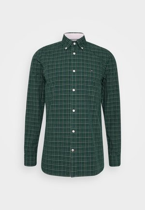 SLIM SMALL TARTAN CHECK - Koszula - green