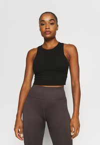 Cotton On Body - LAYERING CROP TANK - Top - black - 0