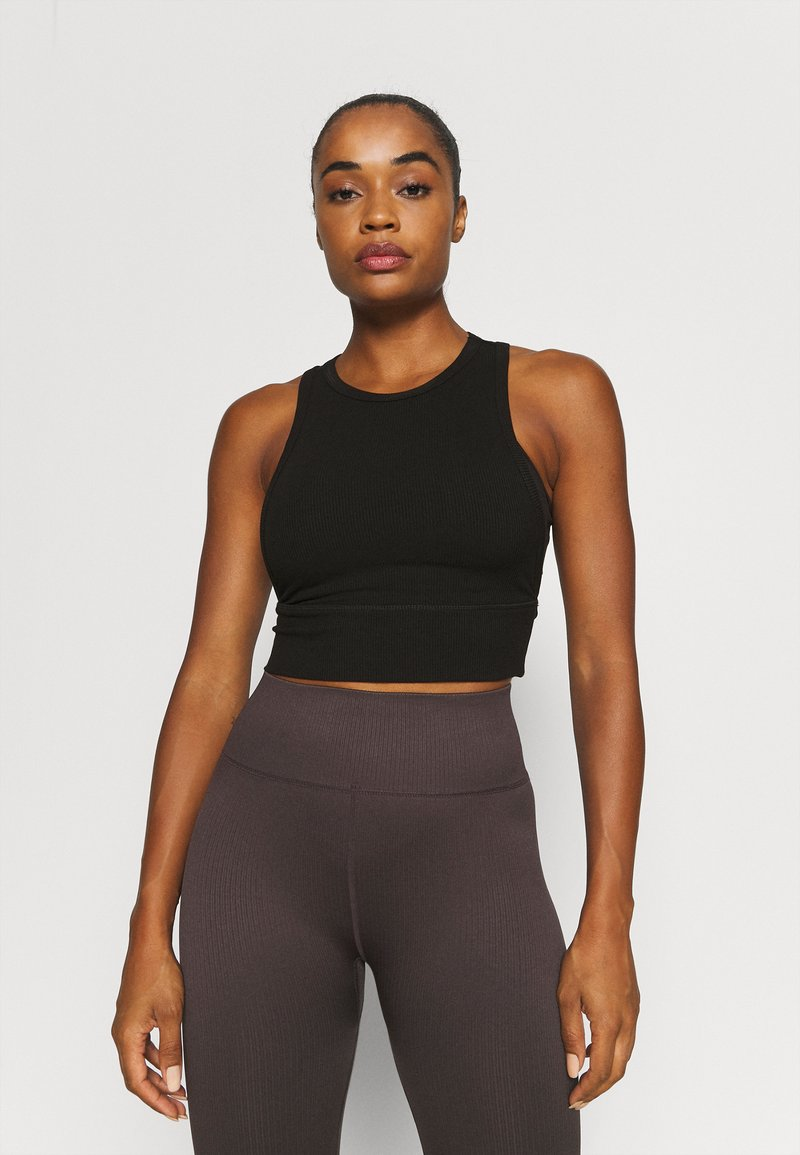 Cotton On Body - LAYERING CROP TANK - Top - black