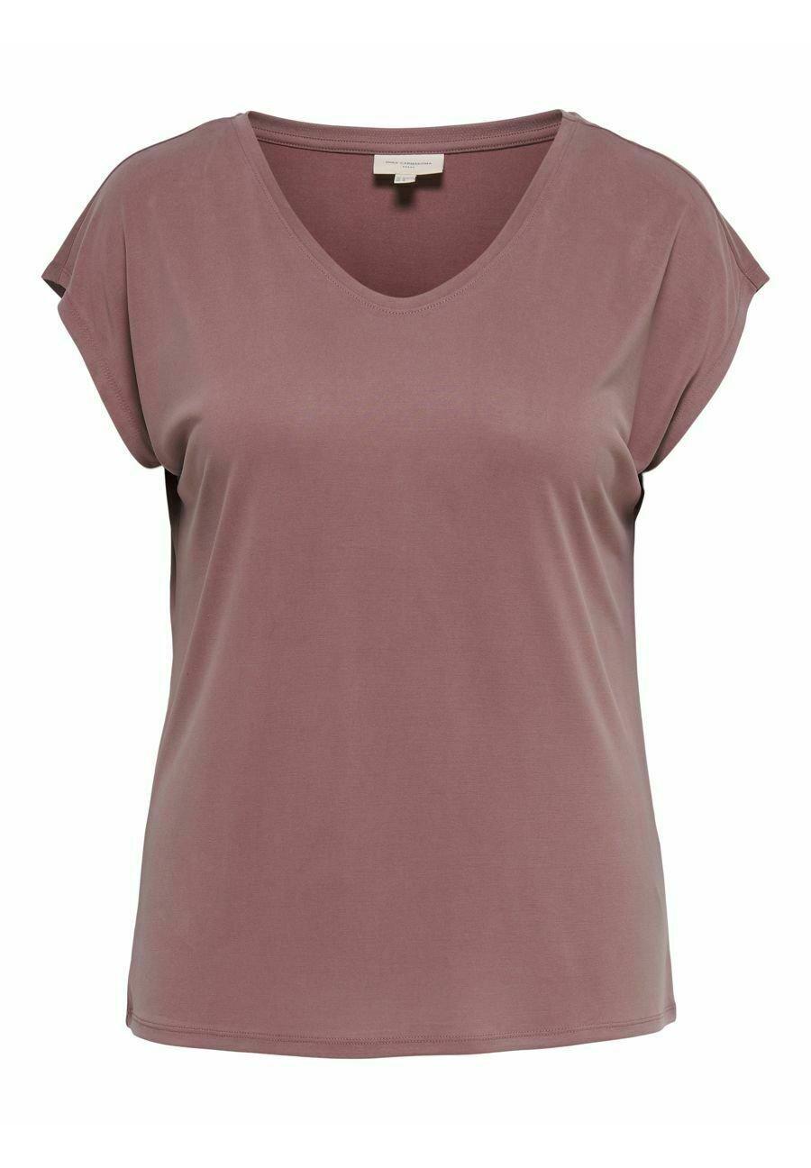 Damen CURVY V-AUSSCHNITT - T-Shirt basic