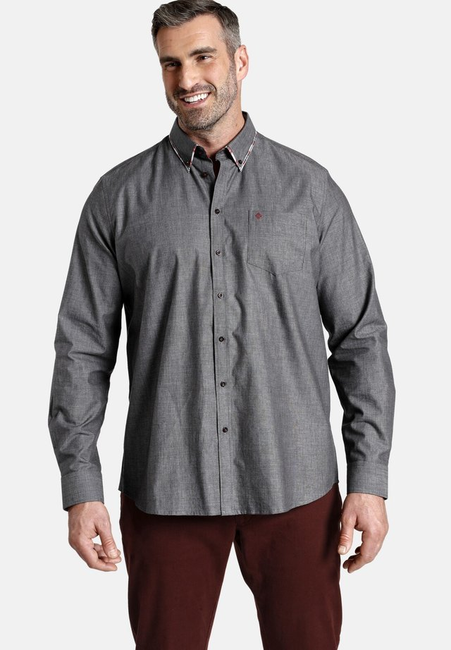 DUKE JEFFERSON - Shirt - schwarz melange
