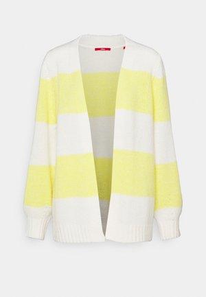 Cardigan - yellow/white