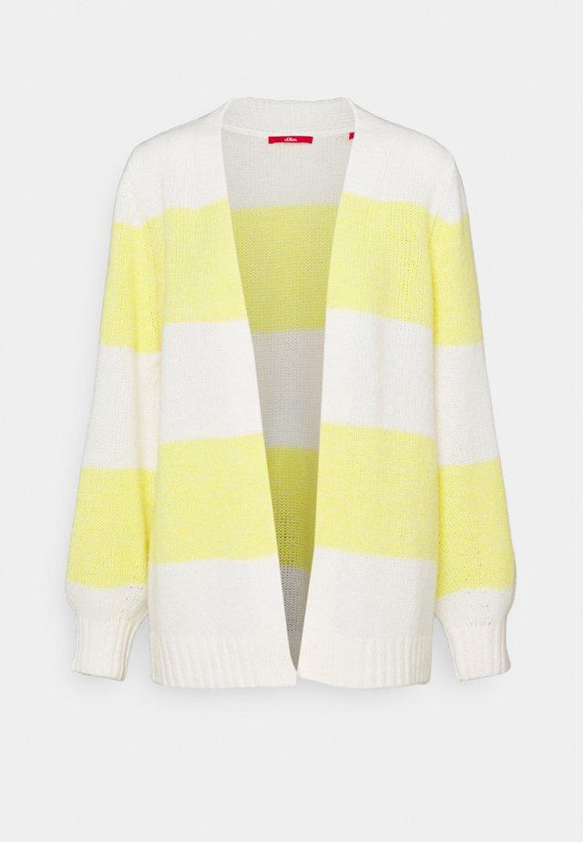 Kardigan - yellow/white
