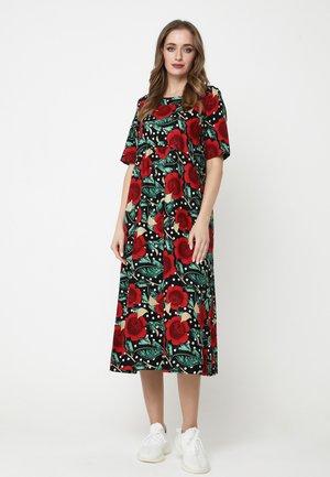 Day dress - schwarz, rot
