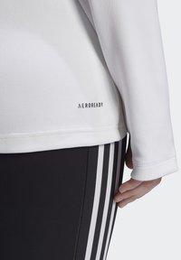 adidas Performance - AEROREADY KNIT JACKET (PLUS SIZE) - Chaqueta de entrenamiento - white - 6