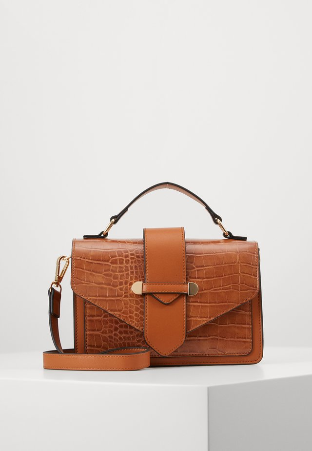 ONLHAZEL SNAKE CROSSOVER - Across body bag - cognac
