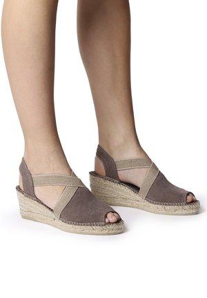 BREDA-V - Wedge sandals - taupe