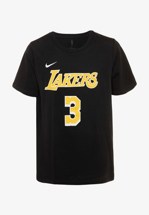 NBA ANTONY DAVIS LA LAKERS NAME AND NUMBER TEE - Triko s potiskem - black
