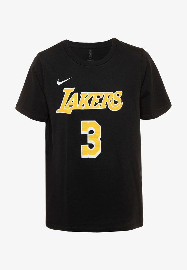 NBA ANTONY DAVIS LA LAKERS NAME AND NUMBER TEE - T-shirt med print - black