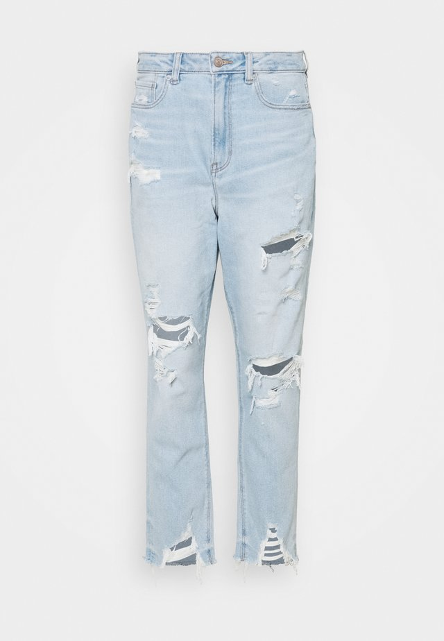 HIGHEST RISE MOM - Slim fit jeans - light blue denim