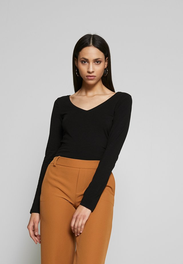 BASIC LONG SLEEVE TOP - Long sleeved top - black