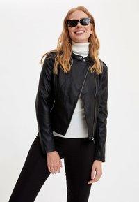 DeFacto - Faux leather jacket - black - 3