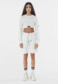 Bershka - Long sleeved top - white - 1