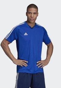 adidas Performance - TIRO - T-Shirt print - blue - 0