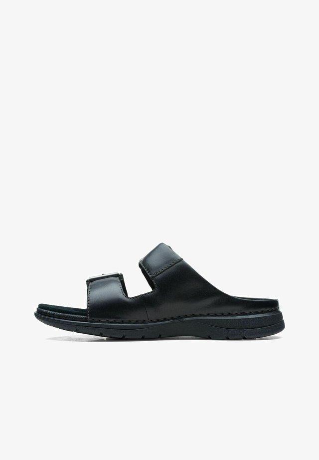 Mules - black leather
