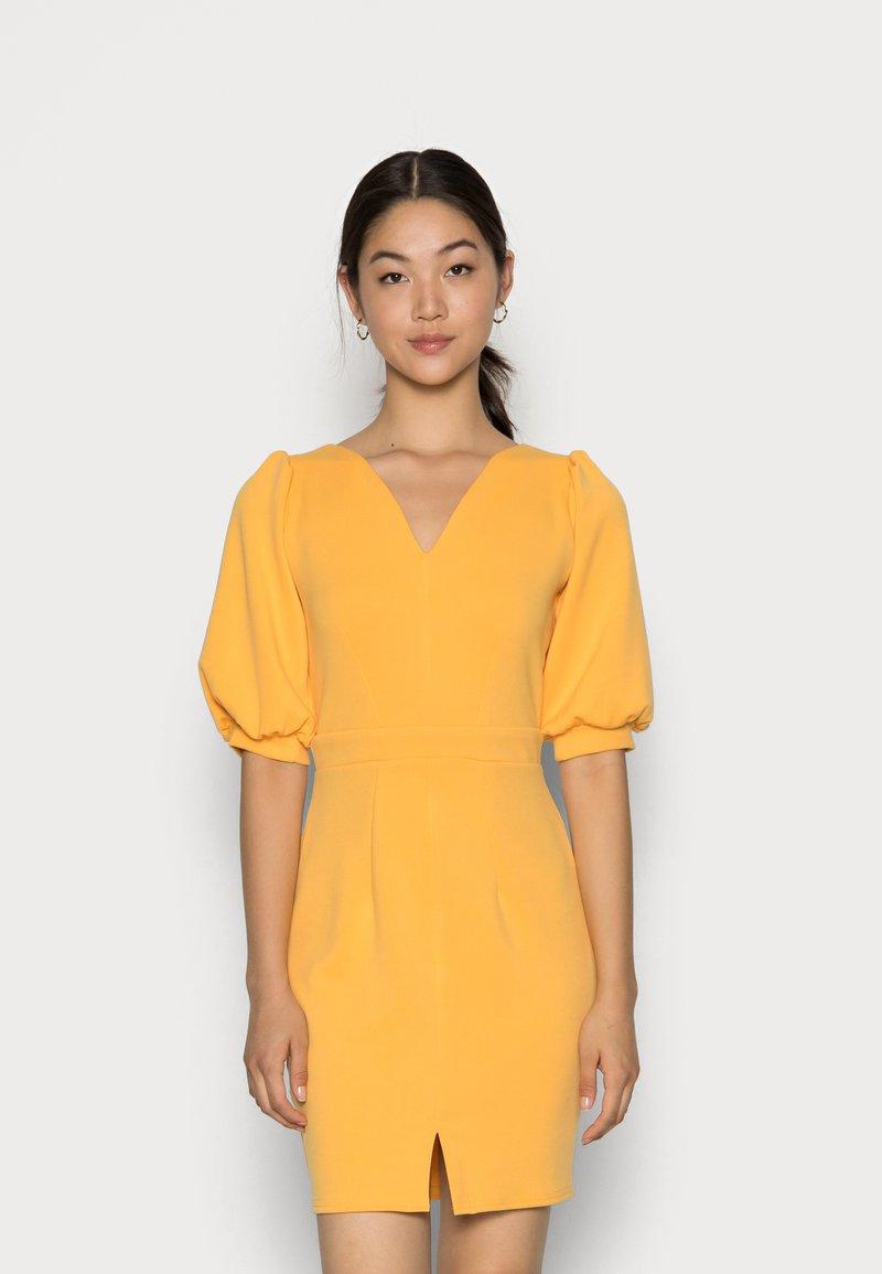Closet - CLOSET V NECK PENCIL DRESS - Day dress - mustard
