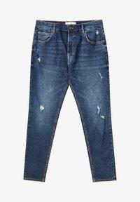 PULL&BEAR - Slim fit jeans - mottled dark blue - 6
