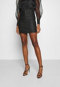 Vero Moda - VMSEVEN SKIRT - Mini skirt - black - 0
