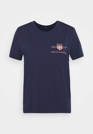 ARCHIVE SHIELD  - T-shirt imprimé - evening blue