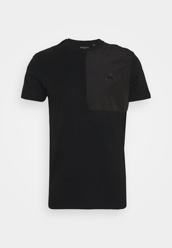 T-shirt med print - jet black