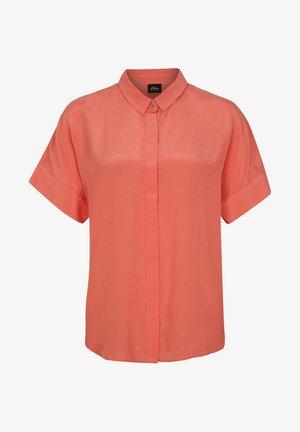 Button-down blouse - flamingo orange