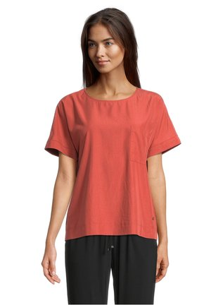 Print T-shirt - barn red