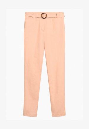 MIT GÜRTEL - Trousers - peach