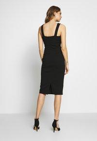 WAL G. - V NECK MIDI DRESS - Cocktail dress / Party dress - black - 2