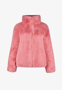 Oliver Bonas - FAUX FUR BLUSH  - Winter jacket - blush - 2