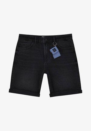 Denim shorts - mottled dark grey