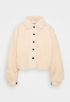 BUTTON UP BORG JACKET - Light jacket - cream