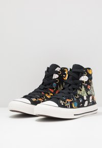 Converse - CHUCK TAYLOR ALL STAR - Zapatillas altas - black/bold mandarin/amarillo - 3