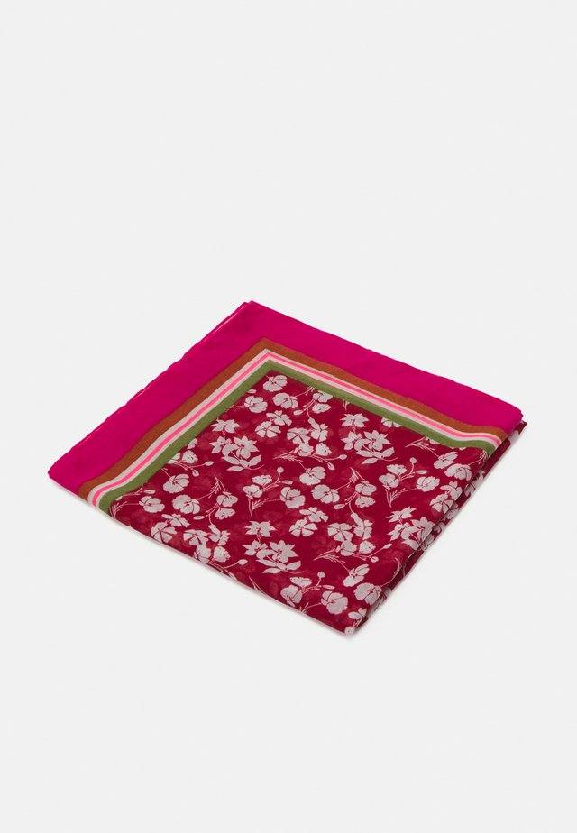 FLOWER PRINT - Scarf - dark red