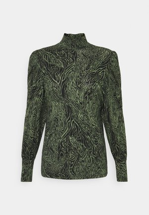 ONLAMINA - Long sleeved top - balsam green/black