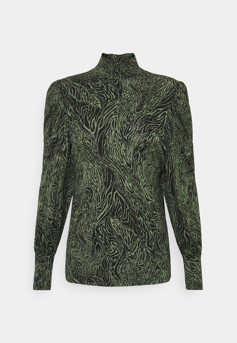 ONLY - ONLAMINA - Long sleeved top - balsam green/black