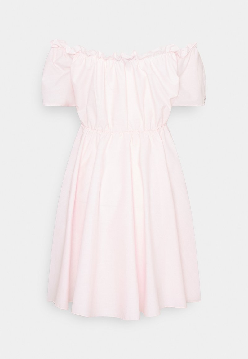 Missguided - BARDOT SKATER DRESS - Sukienka letnia - baby pink