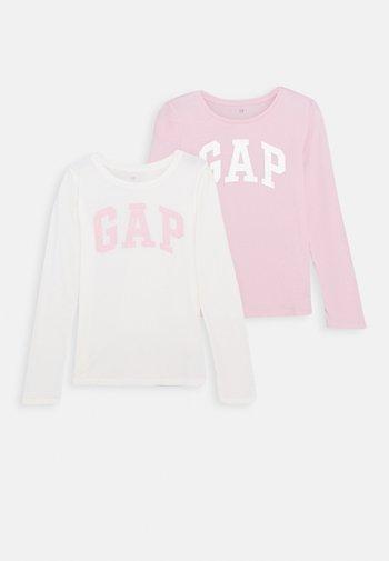 GIRLS LOGO 2 PACK - Long sleeved top - multi