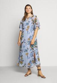 JUNAROSE - by VERO MODA - JRSHIRIAMIA SLEEVE DRESS  - Korte jurk - zen blue - 0