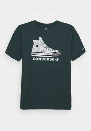 PRINTED SNEAKER TEE - T-shirt imprimé - faded spruce