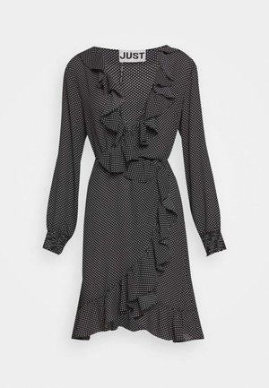 NIRO WRAP DRESS - Denní šaty - black